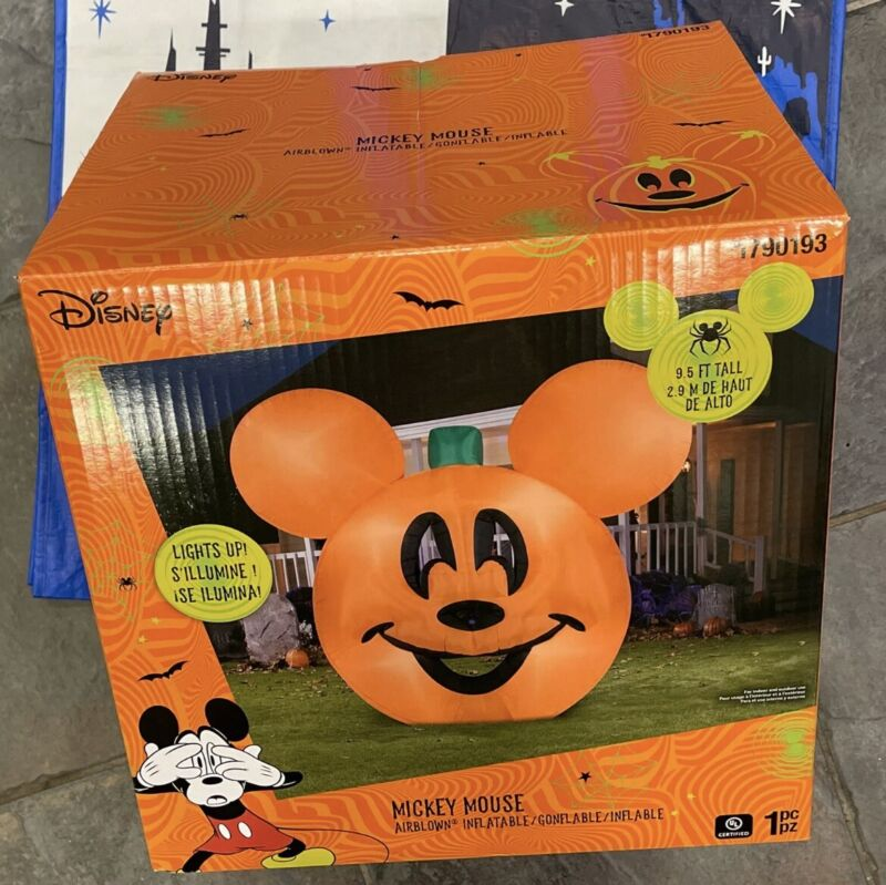 Gemmy 9.5 ft Inflatable Halloween Mickey Mouse Jack-O-Lantern