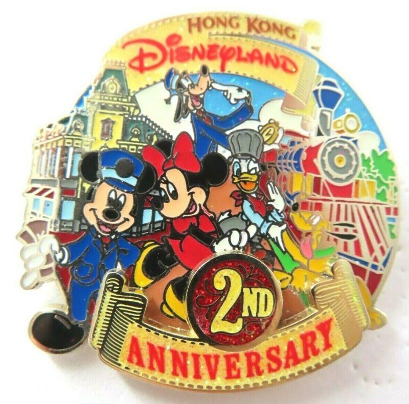 Disney Pins HKDL 2nd Anniversary Fab 5 Train
