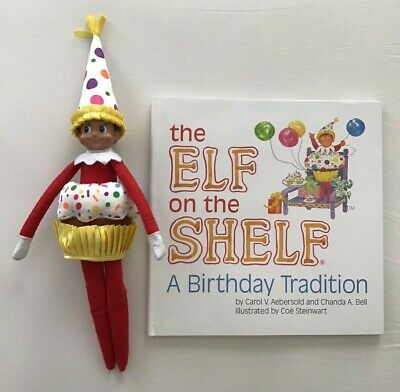 Elf On The Shelf Birthday Tradition Book Outfit Doll