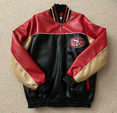 Mens Vintage 49ers Leather Jacket (Medium) - New - Never Been Worn