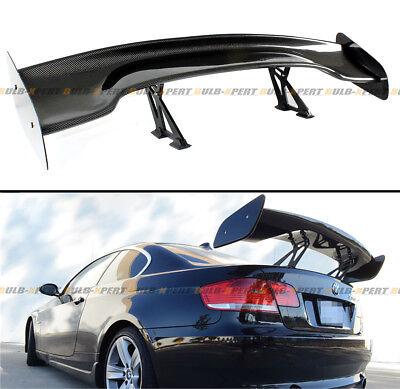 "57"" Inch Carbon Fiber Adjustable GT-Style Race Track Rear Trunk Lid Spoiler Wing"