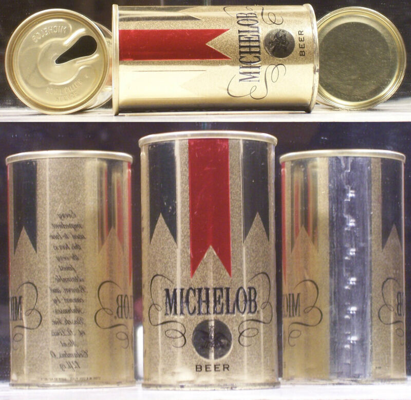 Michelob Beer Vintage S/S Embossed Can Anheuser Busch St Louis Missouri A846