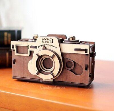 Wood Sum Pinhole Camera Korea DIY Self Assembly Kit PINHOLE Film Wooden CAMERA W