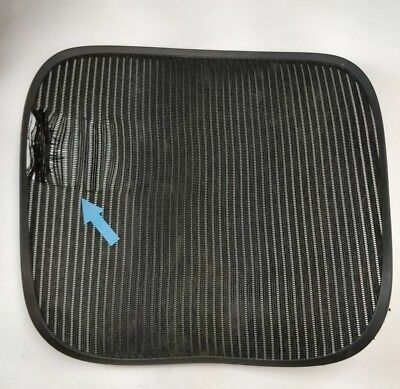 Herman Miller Aeron Chair Seat Mesh Black Pellicle With Blemish Size C Large 35