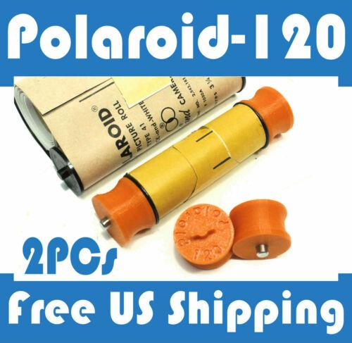 Polaroid-120 Roll Film Spool Adapter Set 2pcs 110 110A 110B Pathfinder type 40