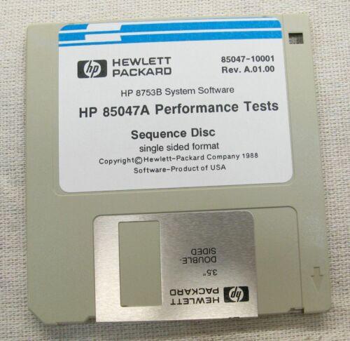 Agilent HP Keysight 85047-10001 - 85047A Performance Tests Software Rev A.01.00
