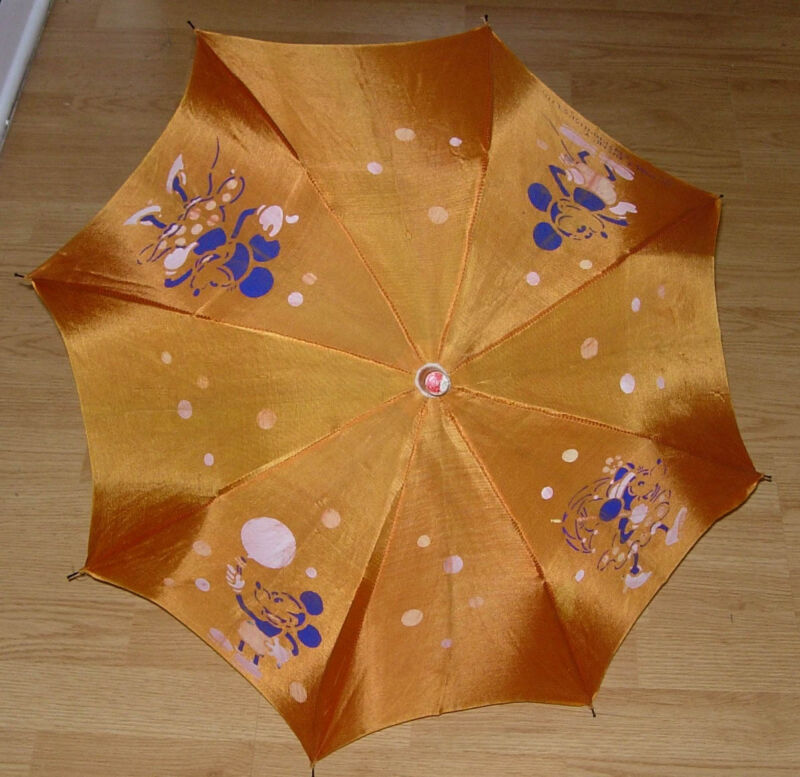 EARLY MICKEY AND MINNIE MOUSE UMBRELLA  C. 1930