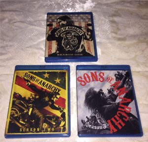 Sons of Anarchy Seasons 1-3 Bluray SOLD PPU
