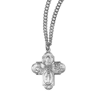 Sterling Silver Themed Jewelry Pendants /& Charms Solid 17 mm 22 mm Antiqued Saint Francis of Assisi Medal