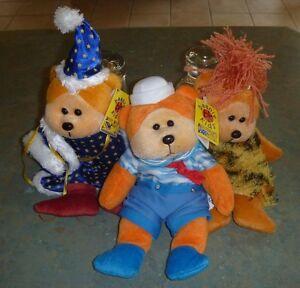 Bulk Beanie Kids Bears x 3 - Merlin , Paddle the Sailor, Rocksy Cave Bear - BNWT