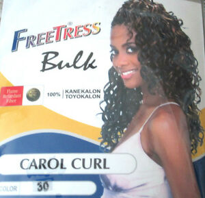 Freetress Curly Bulk Synthetic Braiding Crochet Bulk Hair