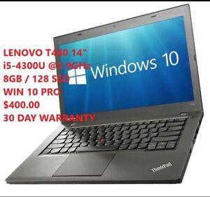 Lenovo T440 i5 4TH GEN / NEW IN BOX/128SSD/8GB/HD+ 16x9 IPS/W10p