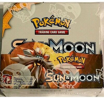 POKEMON SUN AND MOON TCG XY BOOSTER BOX