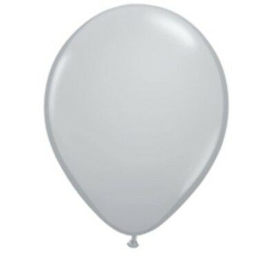 Grey Latex Balloons (100 Count Gray 11