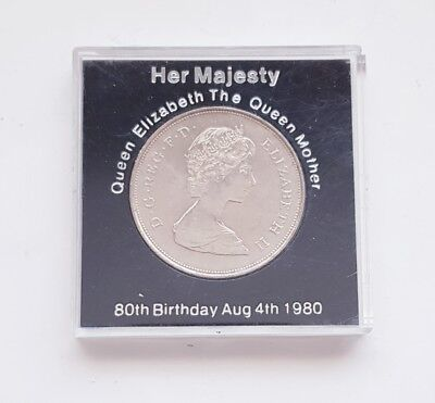 Vintage Queen Elizabeth The Queen Mother 80th Birthday August 4th 1980 Coin
