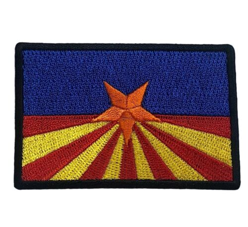 Arizona Flag State Of 2 x 3 inch Biker Patch IV5890 F4D18I