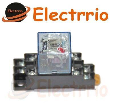 EL2509 RELE 220V 220 Vac Carril DIN 10A CONTACTOR relé Doble contacto