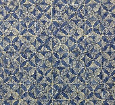 Island Cabana (WAVERLY ISLAND CABANA OCEAN BLUE #D4026 Geometric Floral Fabric BY THE YARD 54