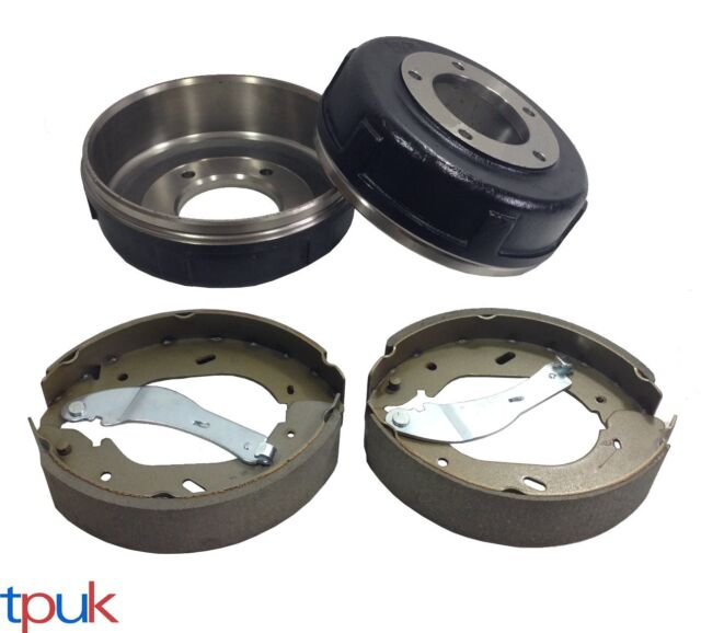 BRAND NEW FORD TRANSIT 2.4 RWD MK6 REAR BRAKE SHOE & DRUM SET 2000 - 2006 5 STUD