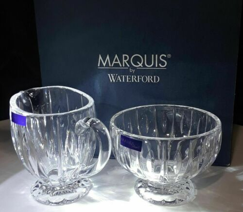 "NEW MARQUIS By WATERFORD ""Sheridan"" Sugar & Creamer Set AUTHORIZED DEALER"