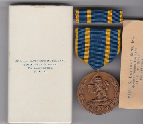 Original US State Pennsylvania National Guard 1936 Johnstown Flood Medal in Box