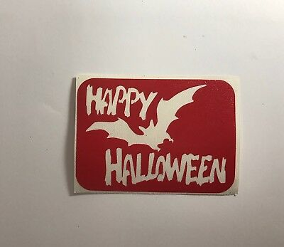 Happy Halloween Glitter Tattoo Stencils - 15 Stencil Pack