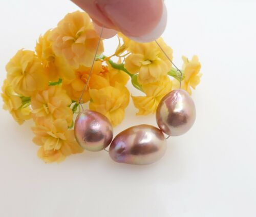 STUNNING AA+ FRESHWATER EDISON HIGH GRADE CULTURED PEARLS - RICH COLORS