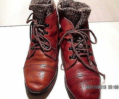 ANKLE BOOTS POSITIVELY PEPPERS LADIES SZ 7B LACE UP LINED LEATHER ROMANIA  for sale  Shipping to Canada