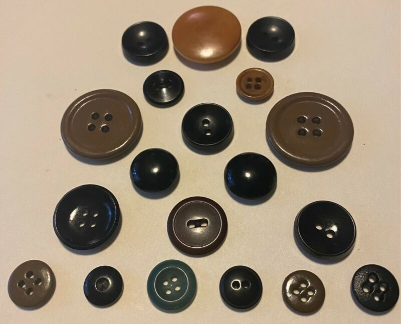 """Vegetable ivory tagua nut buttons lot of 19 art deco vintage 1/2"""" - 1 1/8"""""""