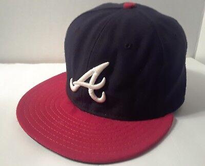 85c9a7acdca Atlanta Braves New Era Official On Field Cap Baseball size 7 Hat Chris  7  MLB