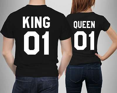 King 01 And Queen 01 Couple T Shirts Men Women Best Couple Gift