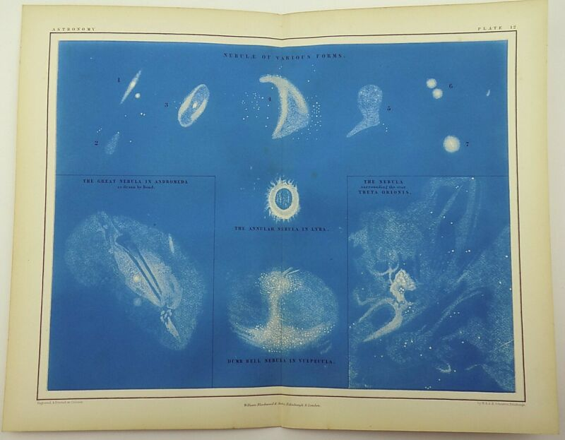 A. K. Johnston (1804 –1871) Nebulae of Various Forms 1856