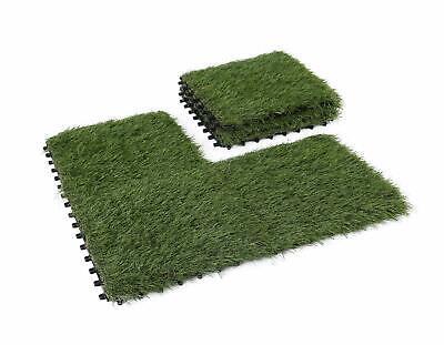 GOLDEN MOON Interlocking Artificial Grass Tiles Series, 1x1 ft, 6 pieces