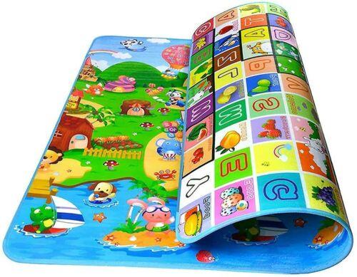 200cm X 180cm Play Mat 2 Sided Kids Crawling Educational Soft Foam Game Carpet
