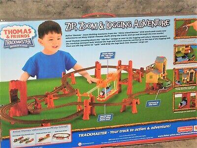 Thomas & Friends Motorized Train Set Zip Zoom & Logging Adventure Complete