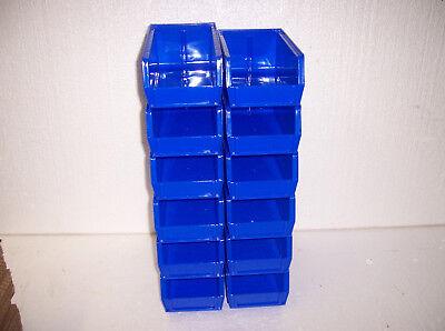 Plastic Storage Bins New 7 12 X 4 X 3. Lot Of 12 Blue Ul12414.b
