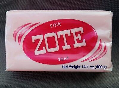 JABON ZOTE ROSADO 14oz High Quality LAUNDRY SOAP Delicate Clothes PINK. 1 Large