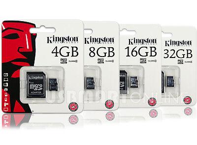Kingston 8GB 16GB 32GB Micro SD SDHC Class 4 Flash Memory Card Pack lot