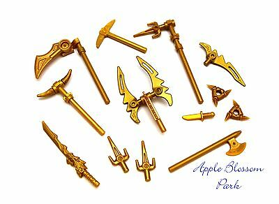 Lego Ninjago Ninja Minifig Gold Weapon Set W/minifigure Golden Dragon Sword