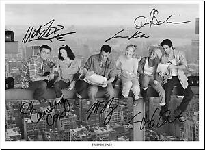 FRIENDS FULL CAST SIGNED AUTOGRAPH PHOTO PRINT POSTER