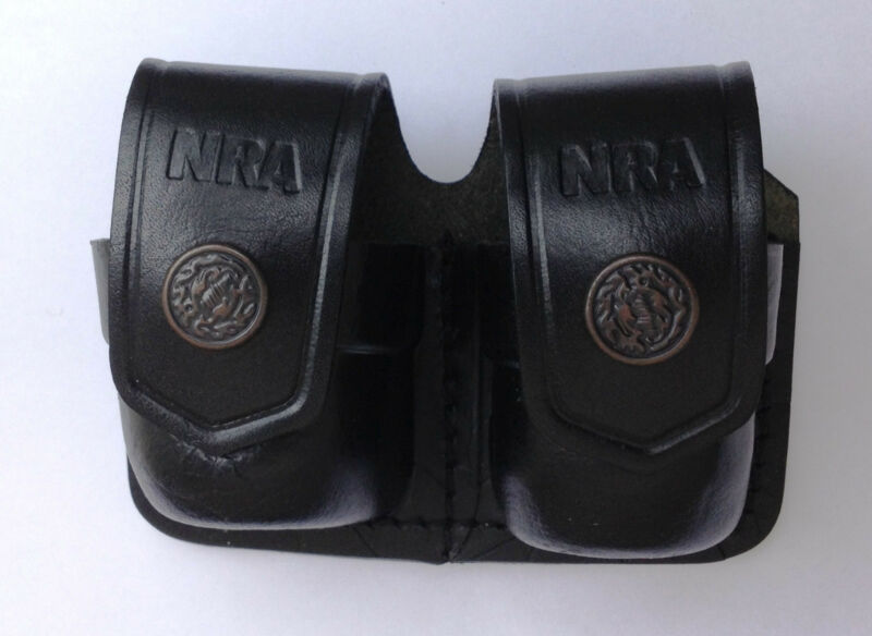 Leather Double Speed Loader Case - (# 038NRA )