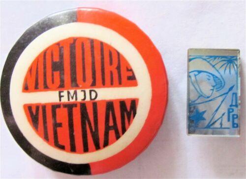 FMJD VICTOIRE VIETNAM - DRV - DEMOCRATIC REPUBLIC VIETNAM 2 POLITICAL PINS