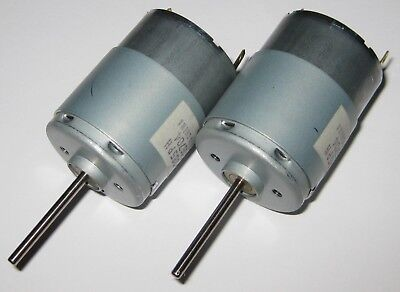 2 X Mabuchi Rs-385ph Motor - Long Shaft 2.3mm - 12v Dc - Model Train Hobby Motor
