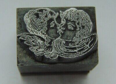 Printing Letterpress Printers Block All Lead 2 People Kissing