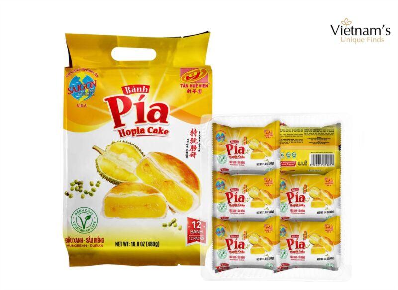 3 PACKS (36-40g) TAN HUE VIEN BANH PIA MINI HOPIA CAKE MUNG BEAN DURIAN绿豆榴莲