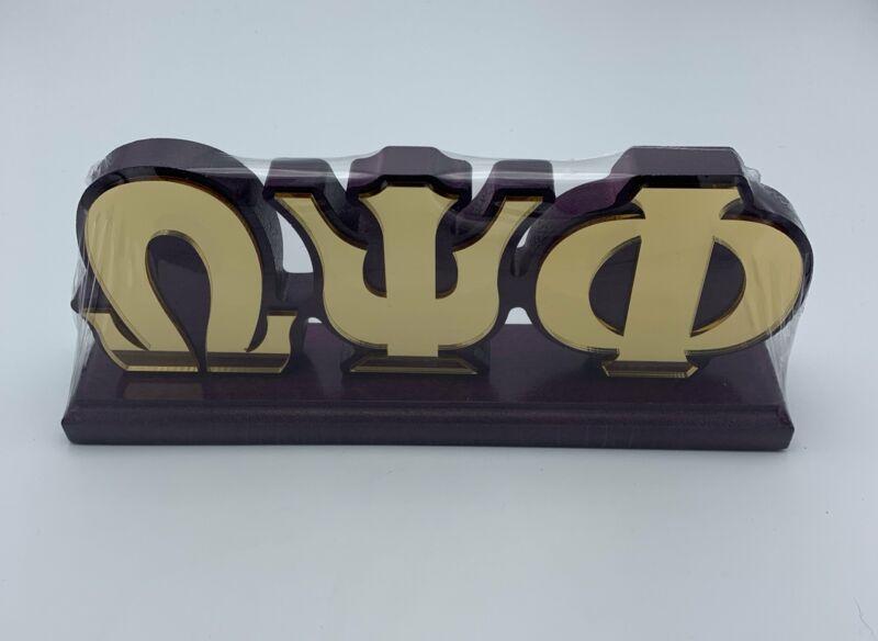 """Omega Psi Phi - Colored Desktop Letter Set 11"""" x 4.5"""""""