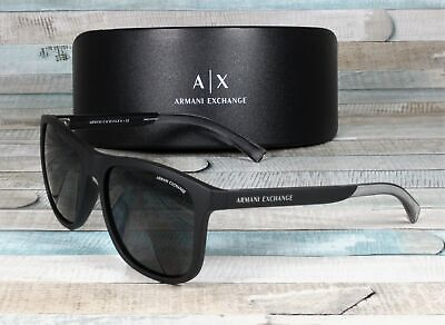 Armani Exchange AX4049SF-818287 MATTE BLACK grey 57 mm Men's (Armani Exchange Shades)