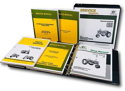 Service Parts Manual Set For John Deere G Gn Gw Gh Tractor Catalog Shop Book