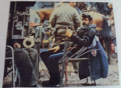 Young GEORGE LUCAS Autographed Movie Set Photograph Autograph FAMOUS DIRECTOR
