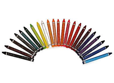 24 Stück farbige Wachsmalstifte bunte Wachsmalkreide im Set Wachsmaler Crayons